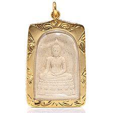 KLAUS DREXEL Amulett vergoldeter Rahmen limitierte Auflage ca. 4,6x3,2cm