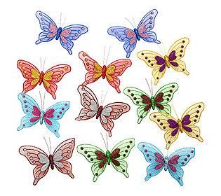 12 Deko-Schmetterlinge