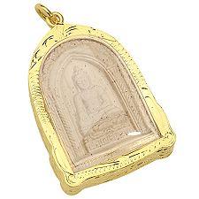 KLAUS DREXEL Amulett vergoldeter Rahmen limitierte Auflage ca. 5,3x3,2cm