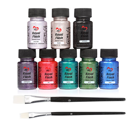 karin jittenmeier royal flash acrylfarbe pinsel 10 tlg. Black Bedroom Furniture Sets. Home Design Ideas