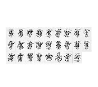 26 alphabet stempel 579122. Black Bedroom Furniture Sets. Home Design Ideas