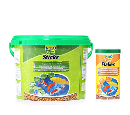 TETRA Pond Sticks, Pond Flakes & Fütterungsring 10l + 1l