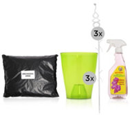 KEYZERS® 3 XL-Orchideentöpfe, 500ml Orchideen- Power-Spray & 3l Erde