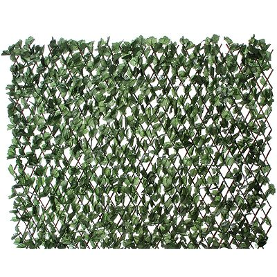 Gartenzaun ausziehbar Polyester & Weide 100x200cm - Page 1 — QVC.de