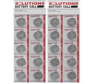 20 Knopfzellen Lithium