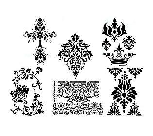 6 Ornament-Schablonen