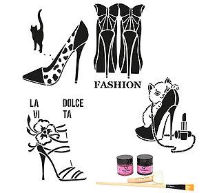 Textil-Design High Heels