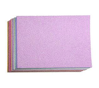 64 Glitterkarton-Bogen