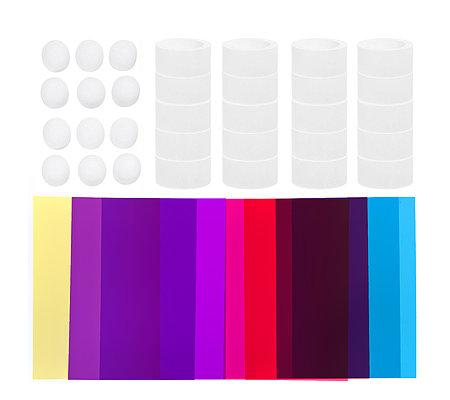 karin jittenmeier farbige leuchten windradfolie led leuchtis 52tlg. Black Bedroom Furniture Sets. Home Design Ideas