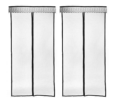 fliegenvorhang magnetverschluss mit klettband f r einfache montage 2 st ck. Black Bedroom Furniture Sets. Home Design Ideas