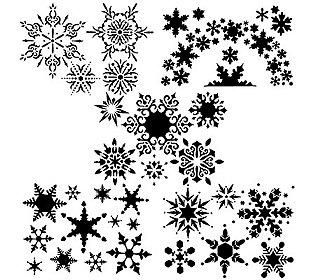 5 Schablonen Eiskristalle