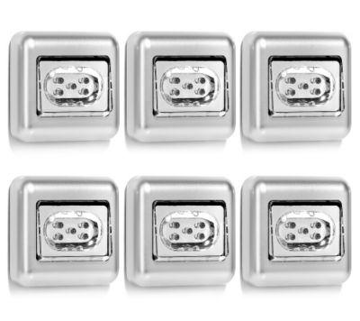 LED Push-Light mit Kippschalter & Befestigungs- möglichkeit 8x8x2,5cm, 6 Stück