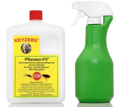 KEYZERS Pflanzen-Fit 100% biologisch Sprühflasche & Anleitung, 1,5L