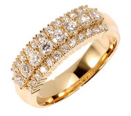 32 Brillanten Ring zus. ca. 0,75ct Weiß/lupenrein Gold 585