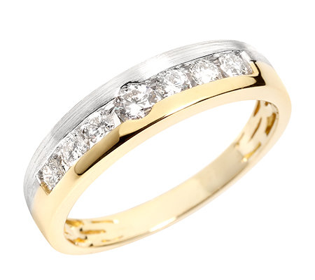 7 Brillanten zus.ca.0,40ct Weiß/SI Ring Platin950/Gold750