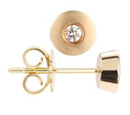 FIRST DIAMOND Ohrstecker 2 Brillanten zus. ca. 0,10ct Gold 375