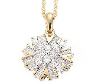 Diamanten-Anhänger Kette