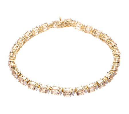 Morganit AAA/8,74ct Diamanten 0,40ct Armband Gold 585