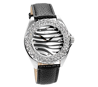 Damenuhr Zebra-Design