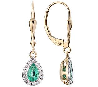 Ohrhänger 2 Smaragde