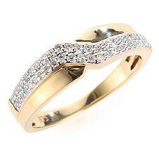 FIRST DIAMOND 46 Diamanten zus.ca.0,25ct. Ring Gold 375