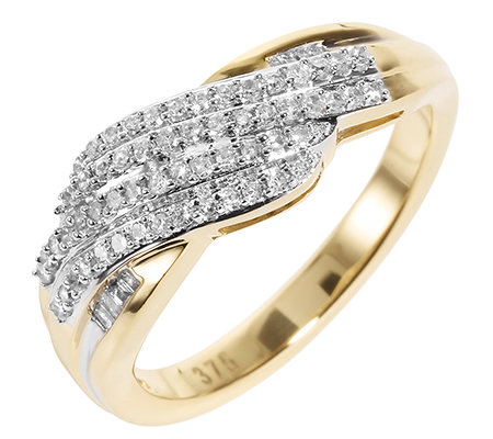 GLAMOUR DIAMONDS 66 Diamanten W/P1 zus.ca.0,25ct Ring Gold 375