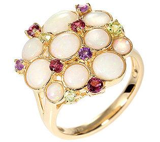 Ring 10 Opale Edelsteine