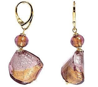 Ohrhänger Glas-Elemente