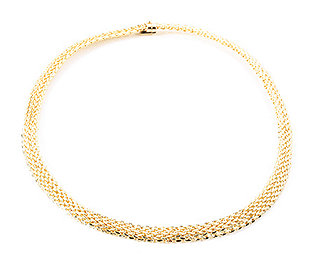 Collier Web-Optik Gold