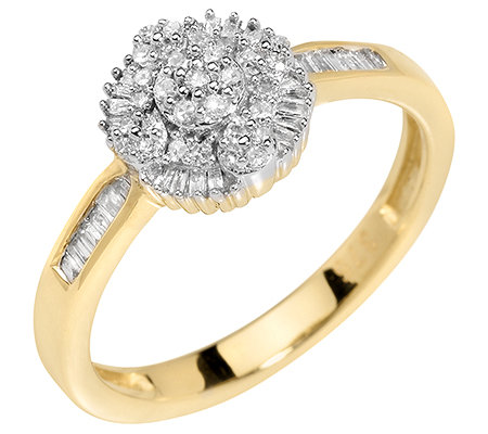GLAMOUR DIAMONDS 59 Diamanten W/P1 zus.ca.0,25ct Ring Gold 375