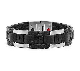 Armband Edelstahl/Leder