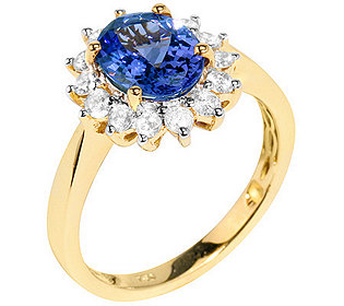 Ring Tansanit Brillanten