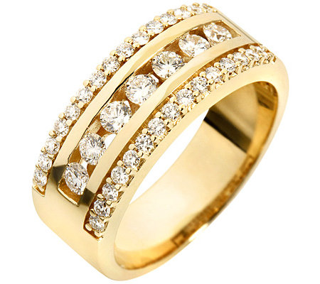 37 Brillanten zus.ca.0,75ct. Weiß/lupenrein Cocktail-Ring Gold 585