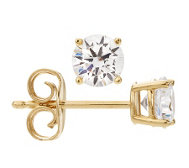 DIAMONIQUE® GOLD 375 Ohrstecker = 0,80ct Brillantschliff