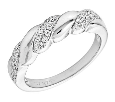 DIAMONIQUE® = 0,20ct Brillantschliff Ring Silber rhodiniert