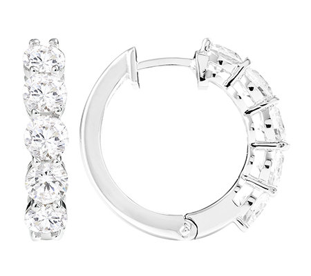 DIAMONIQUE® = 2,50ct Brillantschliff Eternity-Creolen Silber 925