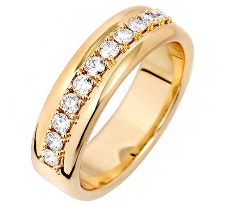 11 Brillanten zus. ca. 0,40ct get.Weiß/lupenrein Ring Gold 585