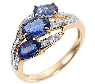 Ring 3 Kyanite Diamanten
