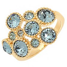 CAROLINE CREBA Swarovski Kristalle Cocktail-Ring Designschmuck