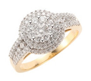 CANADIAN DIAMONDS Ring 91 Brillanten zus. ca. 1,00ct Gold 750