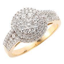 CANADIAN DIAMONDS 91 Brillanten zus.ca.1,00ct. Ring Gold 750