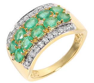 Ring Smaragd Brillanten
