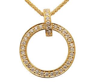 Zopfkette Diamantanhänger