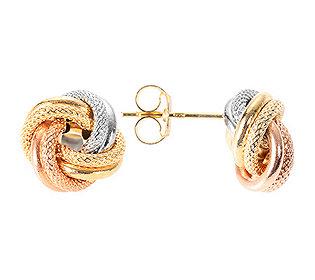 Knoten-Ohrstecker Gold