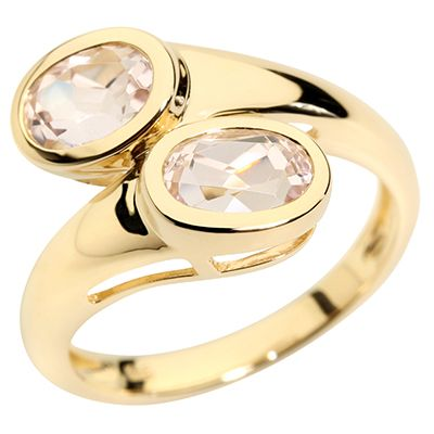 Galileia Kunzit 1,75ct Ovalschliff Croisé-Ring Gold 585