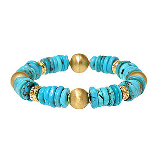 Türkis-Armband vergoldet