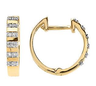 Creolen 24 Diamanten