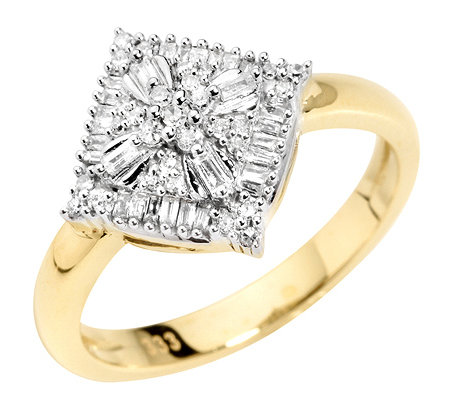 GLAMOUR DIAMONDS 57 Diamanten zus.ca.0,25ct. Ring Gold 333