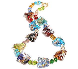 Collier Glas-Elemente
