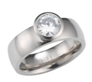 DIAMONIQUE® TITAN Solitärring = 1,00ct poliert